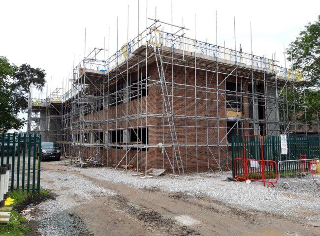 NEW BUILD HOUSING DEVELOPMENT SCAFFOLDING